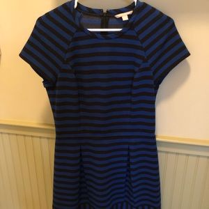 Blue and black banana republic dress